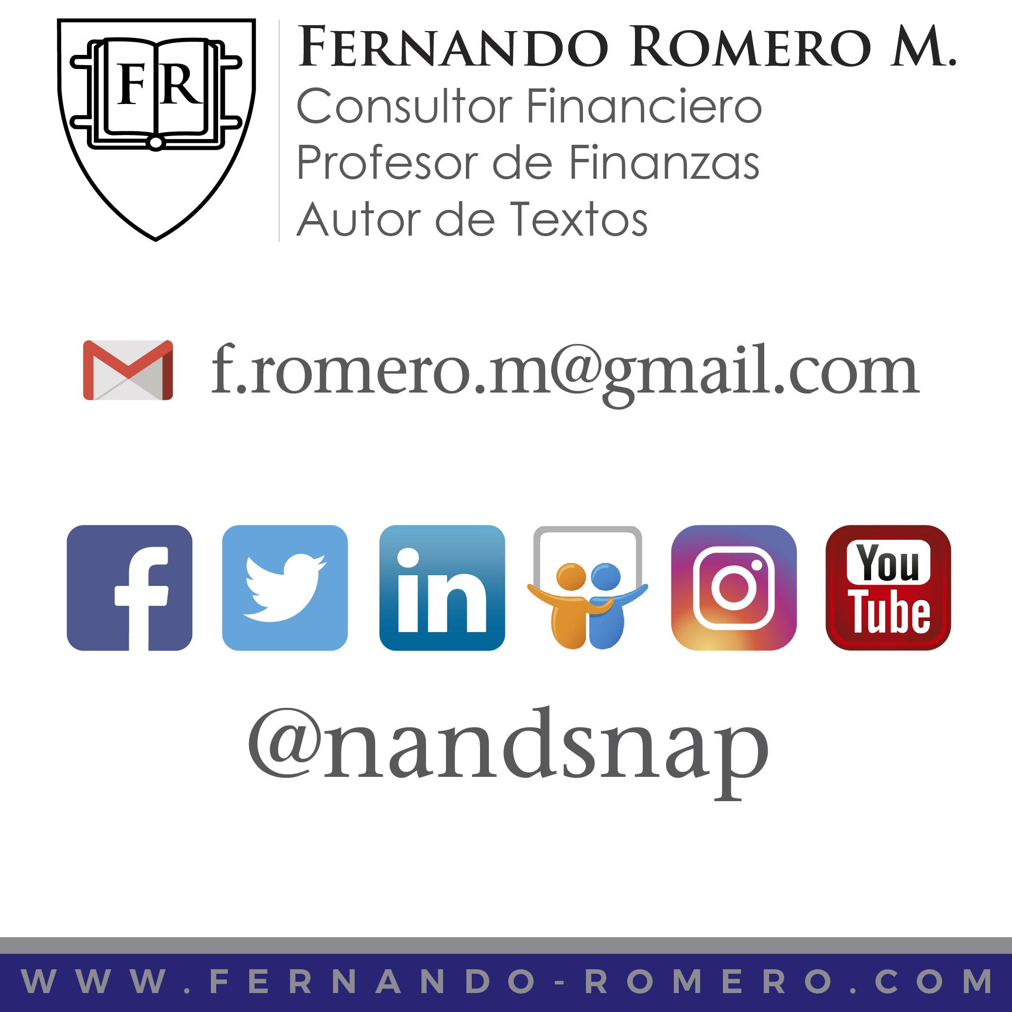 Contacto   Fernando Romero Morán